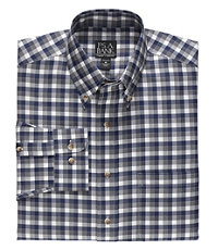 Traveler Long Sleeve Patterned Cotton Buttondown Sportshirt