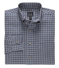 Traveler Patterned Poplin Buttondown Collar Sportshirt