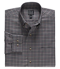 Traveler Long Sleeve Medium Check Buttondown Sportshirt