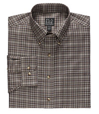 Long Sleeve Traveler Medium Plaid Buttondown Sportshirt
