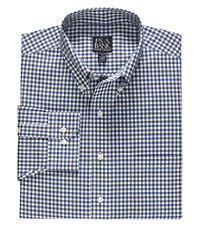 Traveler Long Sleeve Gingham Buttondown Sportshirt Big or Tall