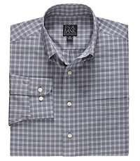 Long Sleeve Executive Sportshirt Buttondown Medium Plaid