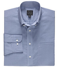 Executive Long Sleeve Buttondown Sportshirt Microcheck