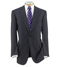 Signature Gold 2-Button Wool Pleated Front Suit Extended Size