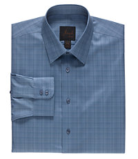 Joseph Spread Collar Slim Fit Plaid Dress Shirt
