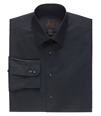 Joseph Spread Collar Slim Fit Solid Dress Shirt