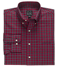 Traveler Buttondown Tartan Long Sleeve Sportshirt Big and Tall