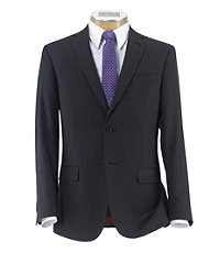 Joseph Slim Fit 2 Button Plain Front Wool Suit- Charcoal Weave Solid