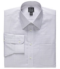 Executive Tailored Fit Spread Collar Gingham Dress Shirt