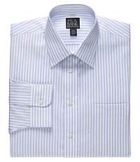 Executive Tailored Fit Spread Collar Triple Stripe Dress Shirt