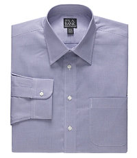 Executive Tailored Fit Spread Collar Mini Check Dress Shirt