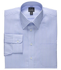 Executive Tailored Fit Spread Collar Stripe Dress Shirt