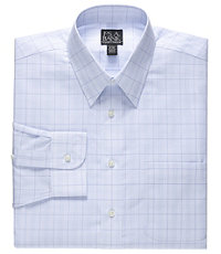 Traveler Tailored Fit Point Collar Large Glen Plaid Dress Shirt $60.00 AT vintagedancer.com