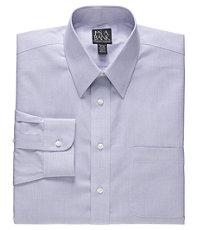 Traveler Tailored Fit Point Collar Mini Check Dress Shirt