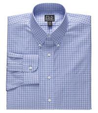 Traveler Wrinkle Free Buttondown Collar Check Dress Shirt