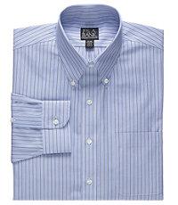 Traveler Wrinkle Free Buttondown Collar Stripe Dress Shirt
