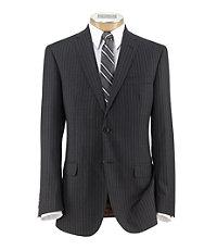 Joseph Slim Fit 2-Button Suits with Plain Front Trousers- Grey Stripe