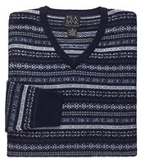 FairIsle V-Neck Lambswool Sweater