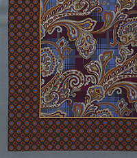Pocket Squares Paisley Plaid