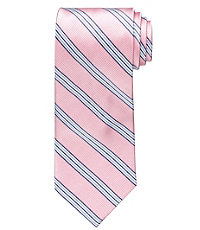 Executive Triple Repp Stripe Long Tie