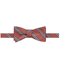 Trapped White Stripes Bow Tie