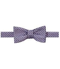 White Grid Bow Tie