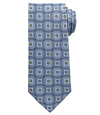 Signature Ornamental Squares Long Tie