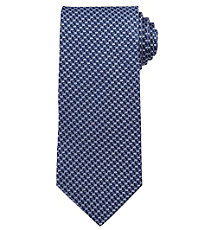 Signature Navy Micro Chevrons Long Tie
