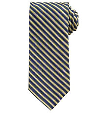 Signature Satin Navy Stripe Tie