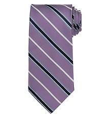 Signature Satin Stripe Long Tie