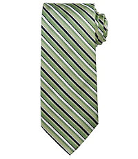 Signature Alternating Tonal Stripes Long Tie