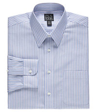 Traveler Tailored Fit Point Collar Stripe Dress Shirt