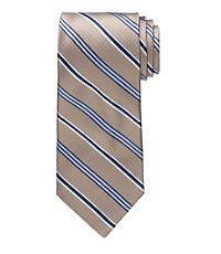 Signature Satin Stripe on Basketweave Tie