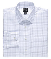 Traveler Spread Collar Slim Fit Patterned Dress Shirt