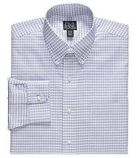Traveler Buttondown Tailored Fit Patterned Dress Shirt