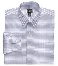 Traveler Buttondown Tailored Fit Patterned Dress Shirt