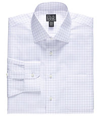 Traveler Spread Collar Tailored Fit Patterned Dress Shirt.