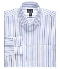 Traveler Spread Collar Tailored Fit Patterned Dress Shirt