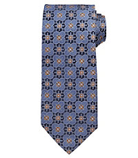 Signature Floral Geometric Long Tie