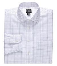 Traveler Pinpoint Plaid Spread Collar Dress Shirt Big or Tall