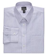 Traveler Point Collar Stripe Dress Shirt