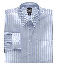 Traveler Point Collar Stripe Dress Shirt.