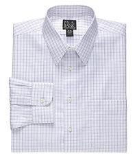 Traveler Point Collar Plaid Dress Shirt.