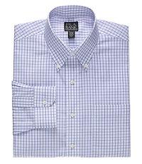 Traveler Button Down Collar Grid Dress Shirt.