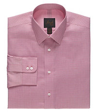 Joseph Spread Collar Slim Fit Check Dress Shirt.