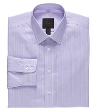 Joseph Spread Collar Slim Fit Stripe Dress Shirt.