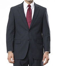 Executive 2-Button Wool Suit with Center Vent and Pleated Front Trousers