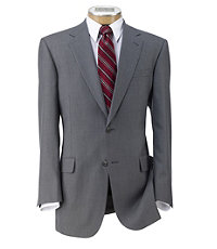 Signature Imperial Wool/Silk Suit with Pleated Trousers- Grey