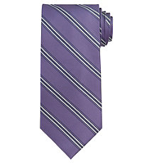 Executive Purple Stripe Extra Long Tie