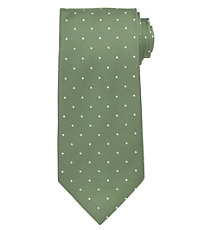 Executive with White Dots Extra Long Tie